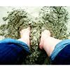 my feet in the sand <3