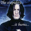 severus snape, fear the stupid