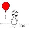 воздушный шар и чупа-чупс