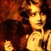 vintage fan girl