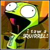 (gir) i saw a squirrel!