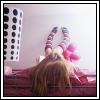771358@GJ ;; feet on wall.