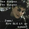Harry one finger: pirate_chick69