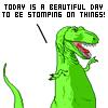 Dinosaurs go STOMP