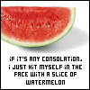 Watermelon is painful