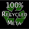 100% recycled meta
