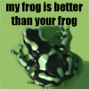 version one, frog love
