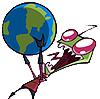 Invader Zim globe