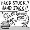 Hand stuck!!
