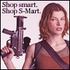 milla with gun, shop smart