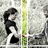 lost - kate and sawyer - b&w
