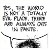 Hippie Geek Girl: get fuzzy - cats in pants
