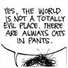 Hippie Geek Girl: get fuzzy - cats in pants