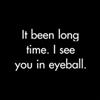 somniferous almond eyes: Eyeball