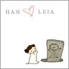 StarWars: Cartoon Leia looks lovingly at Han in carbonite