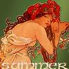 Summer Poppy Lady (by Mucha)