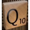 scrabble Q tile