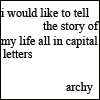 archy 1 - Capital letters