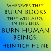 "Quote - Heine ""Burn books"""
