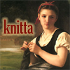 bougereau's knitting girl -- knitta