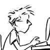b&w typing
