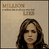 the girl who used to dance on fire and brimstone: faith//million lies - me