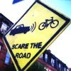 Scare the road