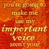 important voice (token buffy quoticon)