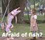 afraid of fish?