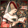 medieval woman with book