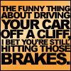 Driving over a cliff