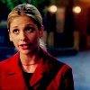buffy red coat