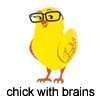 chick w brains