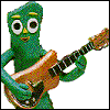 Gumby Rocks Out with His Cock Out by kev