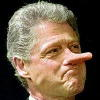 Clinton Pinocchio Nose
