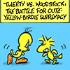 tweety vs woodstock
