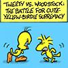tweety vs woodstock