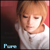 ayumi white shirt looking down/pure♥