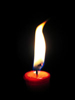A radiant bundle of fascinating contradictions: candle