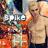 spike shirt off looking
