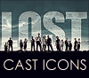 Icons of the Cast of Lost
