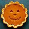 smiling pumpkin pie