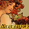 Autumn Lady (by Mucha)