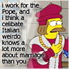 Simpsons Pope Marriage