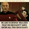 Picard shouldn't eat chocolate