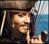 Johnny Depp - Captain Jack smiles
