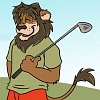Golfing Lion by Nickwolf
