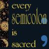 writing semicolon