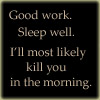 kill you in the morning