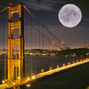 Golden Gate Bridge: Moonlight